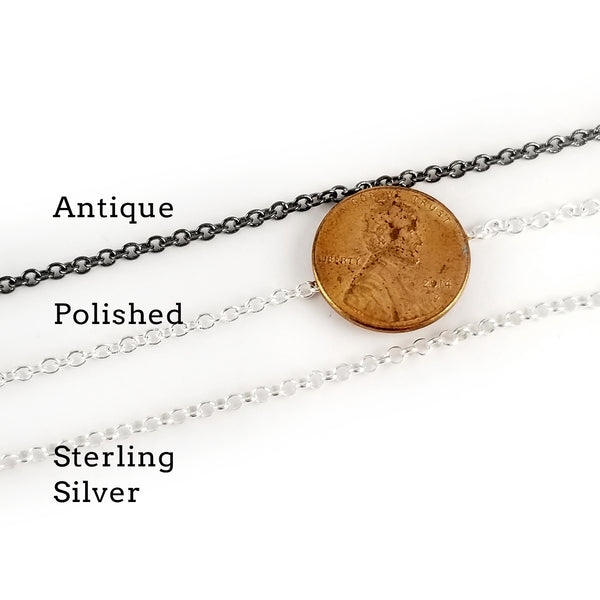 90% Silver Washington Quarter Punch Out Charm Necklace