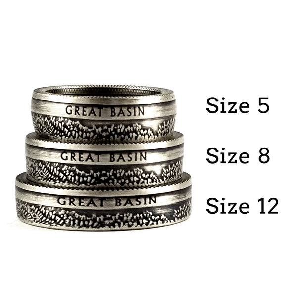 90% Silver National Park coin Ring by midnight jo