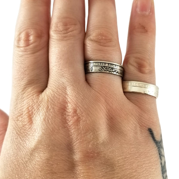 90% Silver National Park Quarter Rings by midnight jo