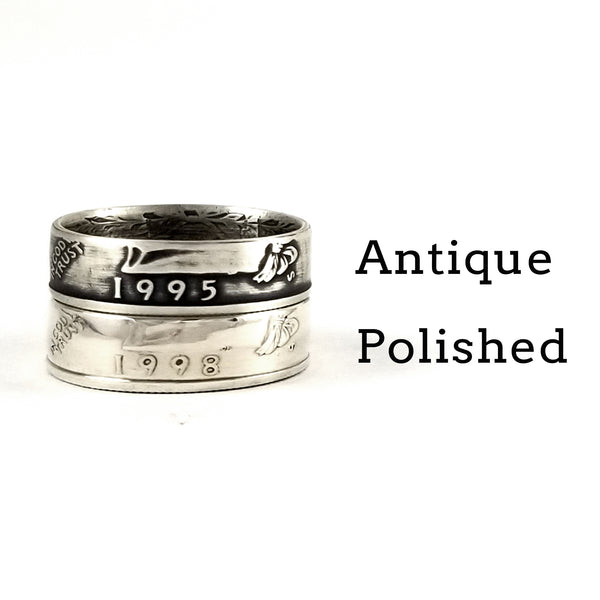 silver washington coin rings by midnight jo