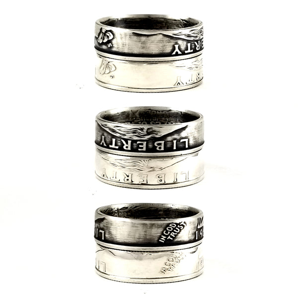 silver liberty quarter rings by midnight jo