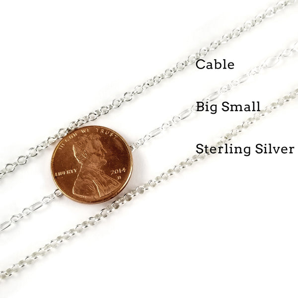 silver chain options by midnight jo