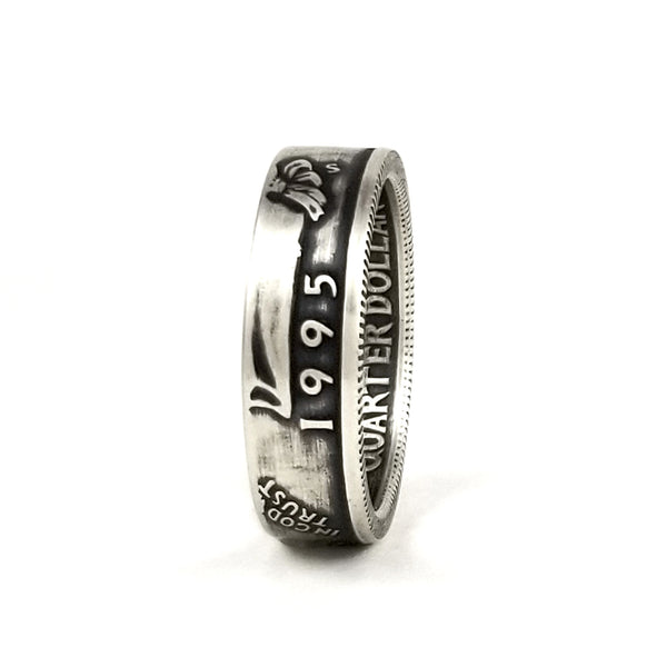 Silver 1995 Quarter Ring - Silver 25th Anniversary Gift by midnight jo