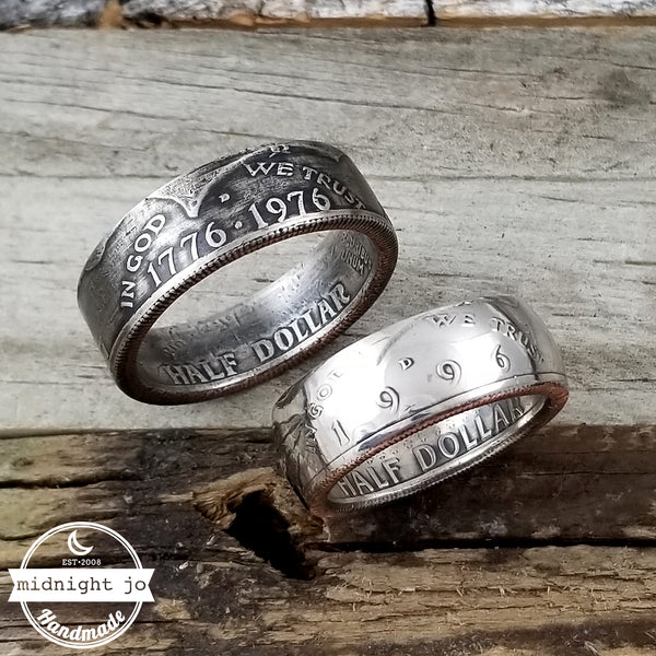 1971-2018 Kennedy Half Dollar Coin Ring by midnight oj