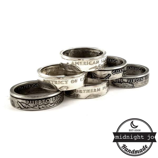 2009 silver territory coin rings by midnight jo