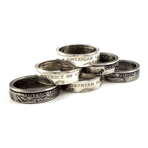 2009 silver proof coin rings by midnight jo