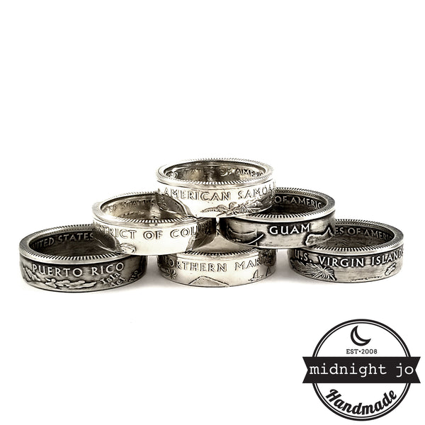 90% Silver 2009 United States Territory Quarter Ring