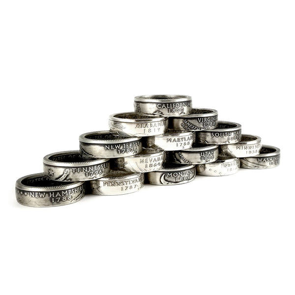 90% Silver State Quarter Coin Rings by Midnight Jo