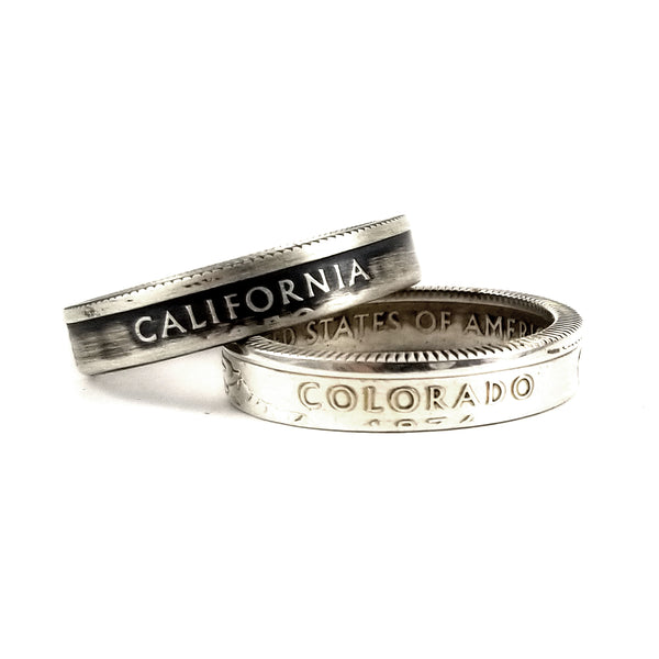 silver state quarter stackable rings by midnight jo