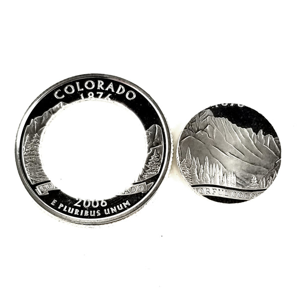 silver colorado proof coin punched out by midnight jo
