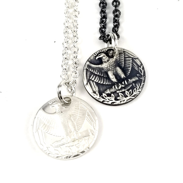 Silver Washington Eagle Coin Charm Necklace by midnight jo