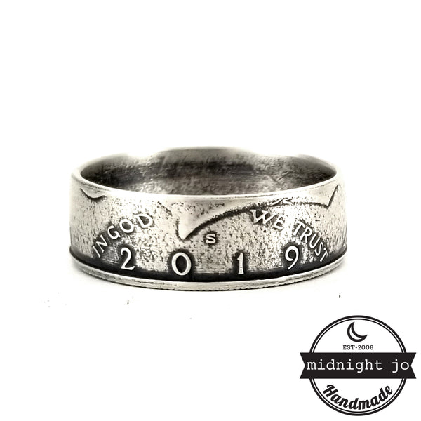 2019 kennedy half dollar coin ring by midnight jo