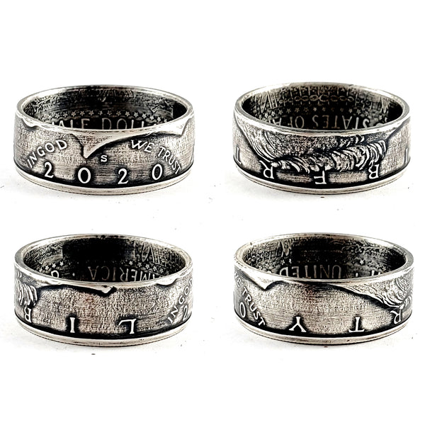99.9% Fine Silver 2020 JFK Half Dollar Coin Ring by Midnight Jo