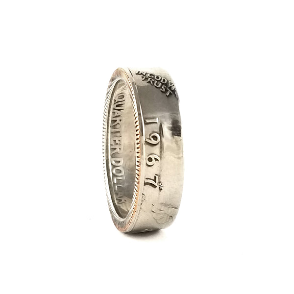 1967 Washington Quarter Coin Ring by midnight jo