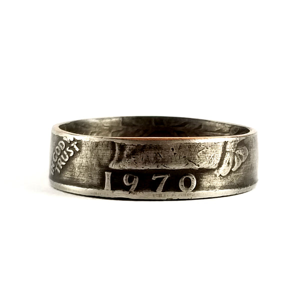 1970 Washington Quarter Coin Ring by midnight jo