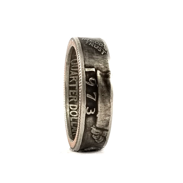 1973 Washington Quarter Coin Ring by Midnight Jo
