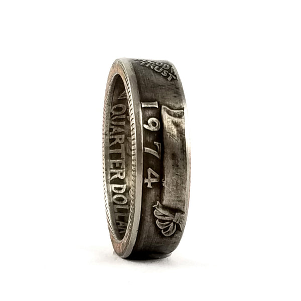 1974 Washington Quarter Coin Ring by midnight jo