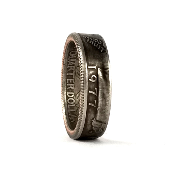 1977 Washington Quarter Coin Ring by midnight jo