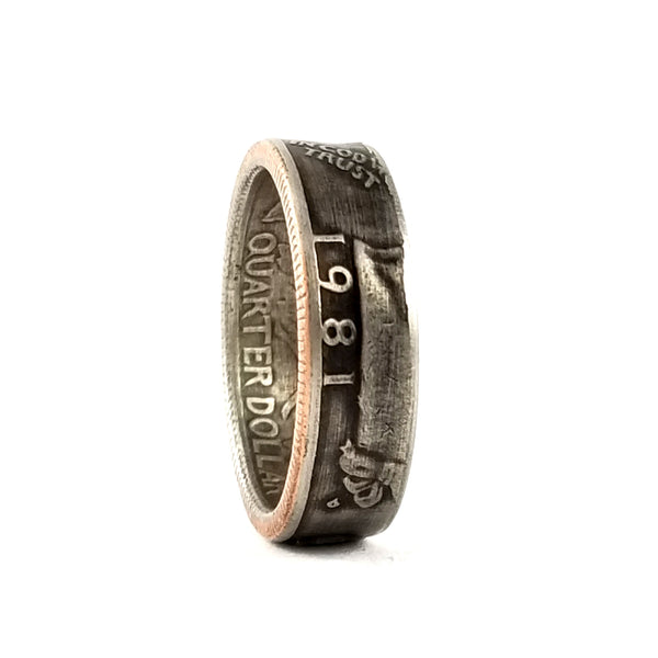 1981 Washington Quarter Coin Ring by midnight jo