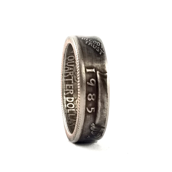 1985 Liberty Quarter Coin Ring by midnight jo