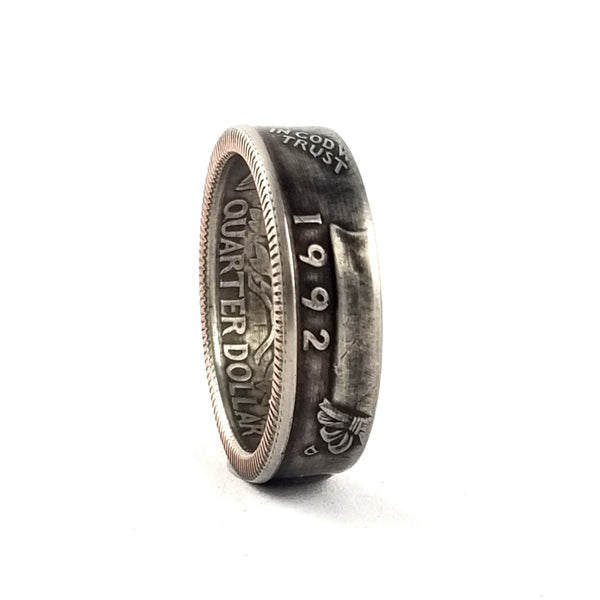1992 Washington Quarter Coin Ring by midnight jo