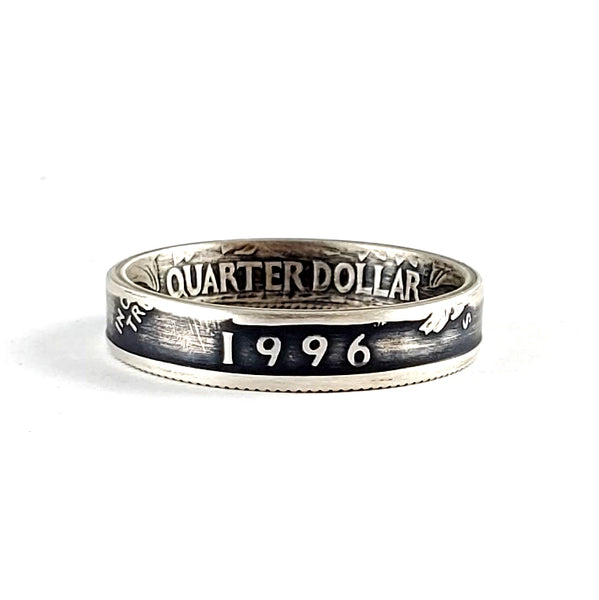 Silver 1996 Quarter Ring - Silver 25th Wedding Anniversary Gift