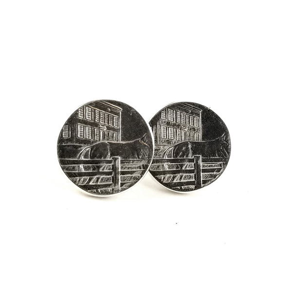 silver kentucky stud earrings by midnight jo