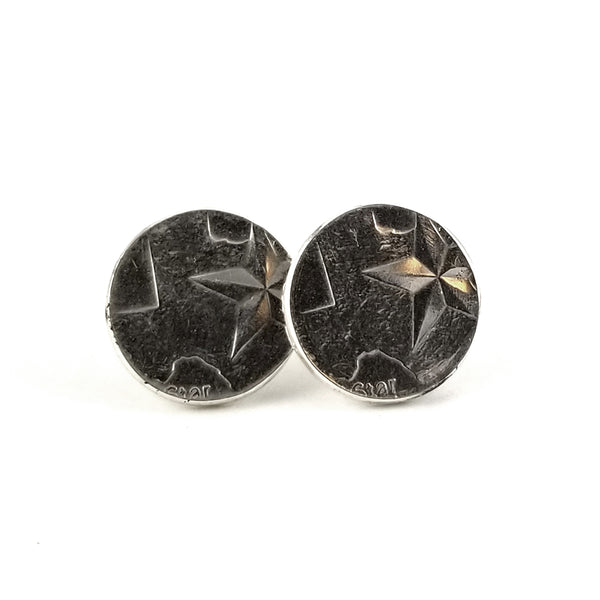 silver texas stud earrings by midnight jo