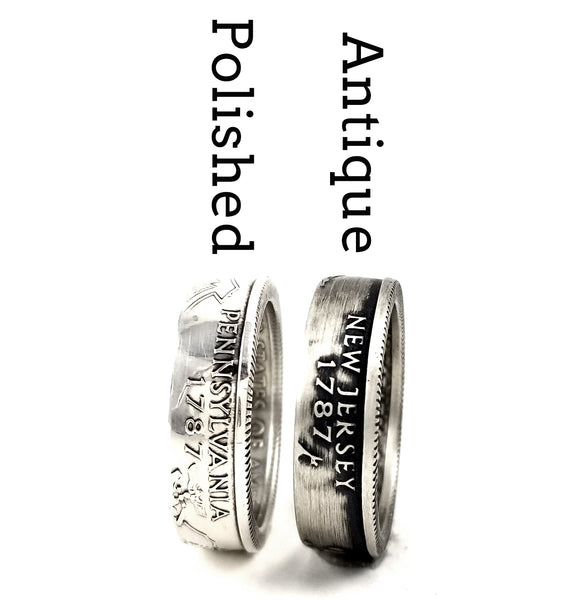 90% Silver State coin Rings by Midnight Jo