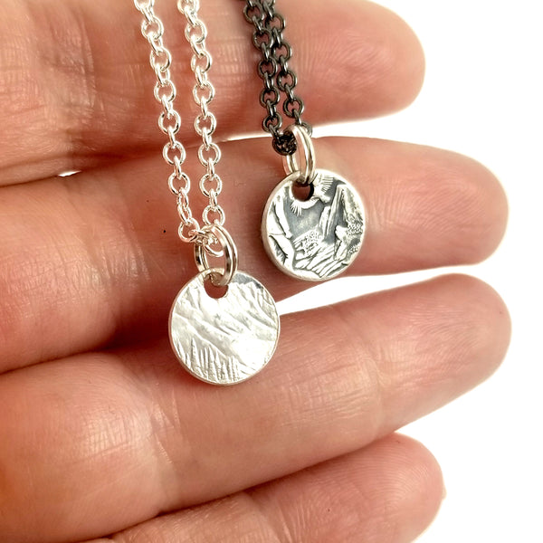 90% Silver State coin Punch Out Charm Necklace