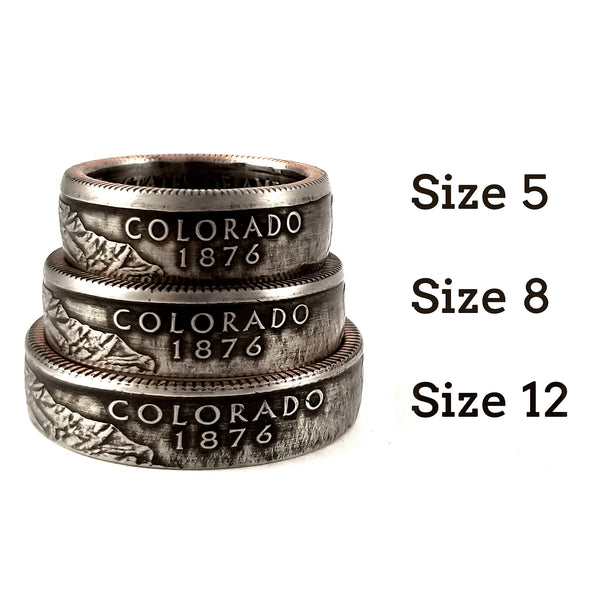 State Quarter Coin Ring & Punch Out Necklace Set