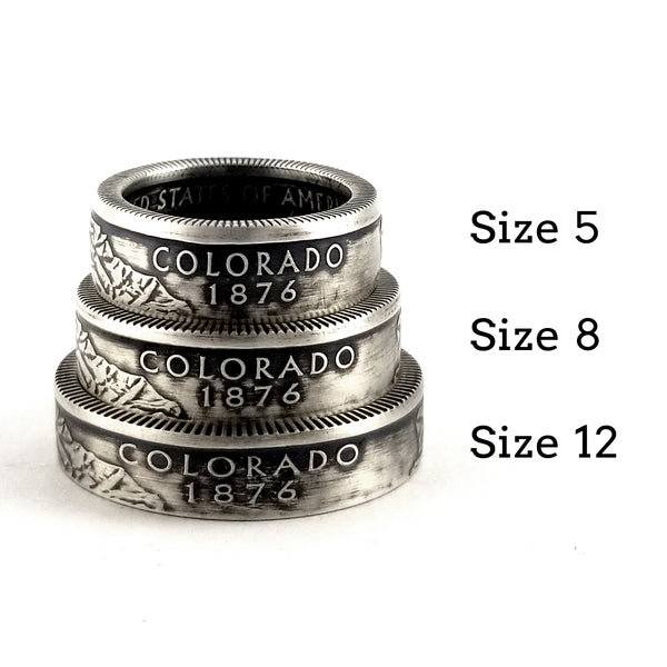 silver colorado coin rings by midnight jo