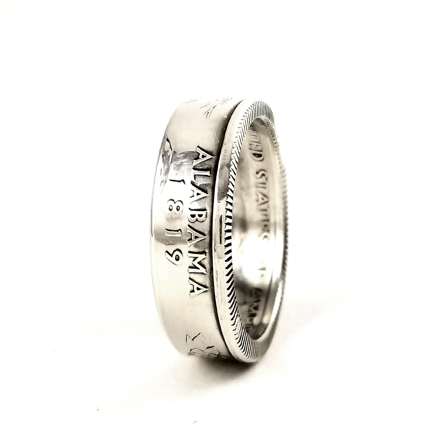 ALABAMA SILVER PROOF US STATE QUARTER COIN RING  SIZE 4-11