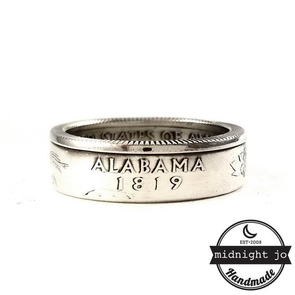 90% Silver Alabama Quarter Ring by midnight jo