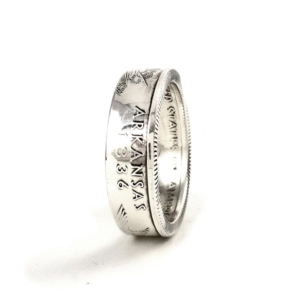 90% Silver Arkansas Coin Ring by midnight jo