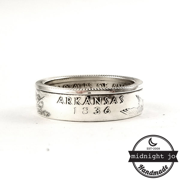 90% Silver Arkansas quarter Ring by midnight jo