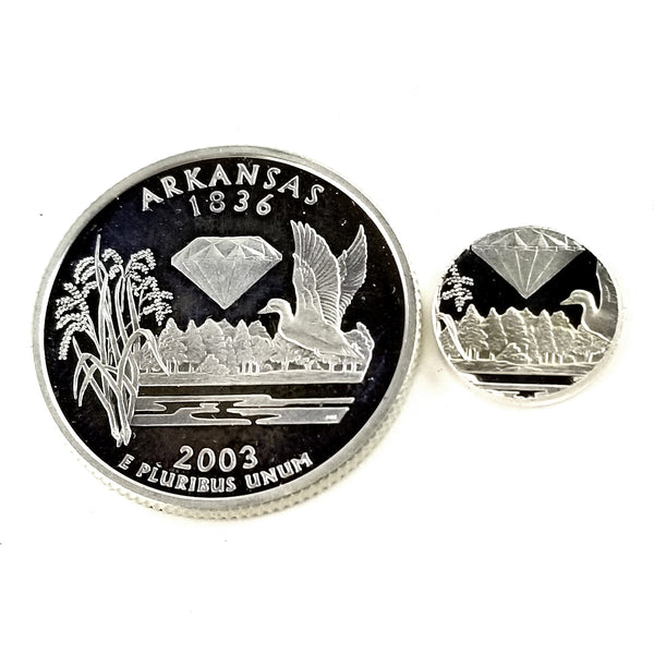 silver arkansas proof quarter
