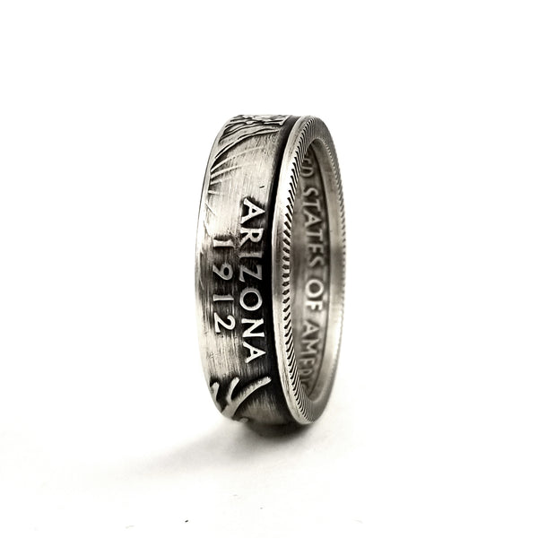 90% Silver Arizona State Quarter Ring by midnight jo