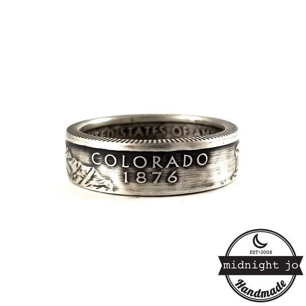90% Silver Colorado quarter Ring by midnight jo