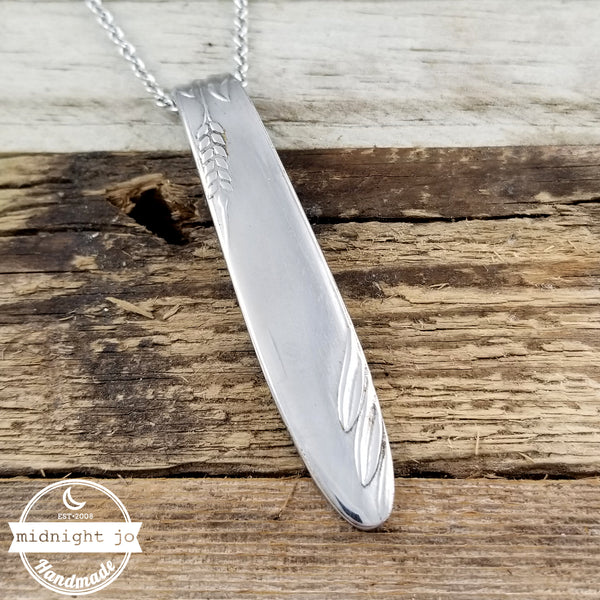 Wheat Head Stainless Steel Spoon Necklace Pendant
