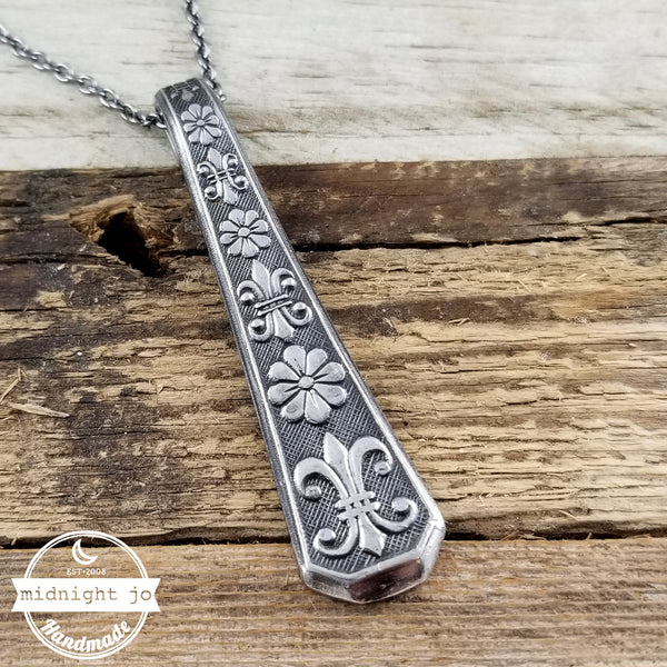 1970's stainless steel spoon necklace