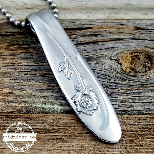 rose stainless steel spoon necklace pendant