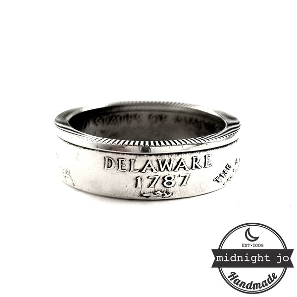 90% Silver Delaware coin Ring by midnight jo