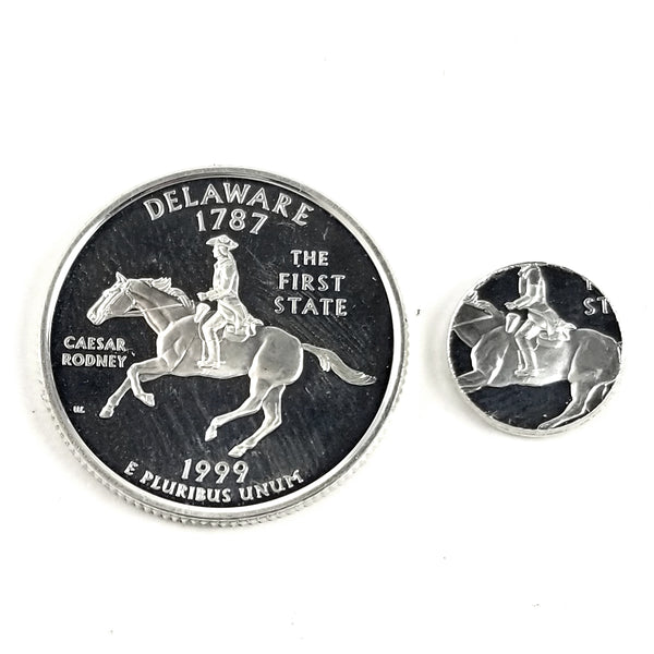 silver delaware proof quarter