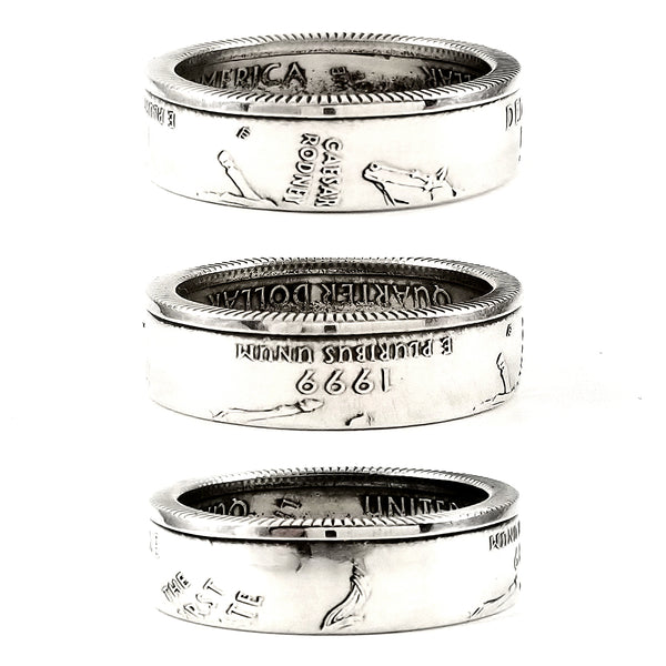 90% Silver Delaware Quarter coin Ring by midnight jo