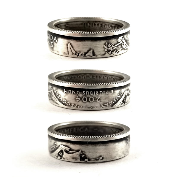 90% silver florida quarter coin ring by midnight jo