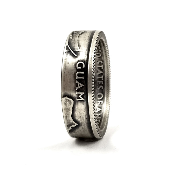 Silver Guam Quarter Ring by midnight jo