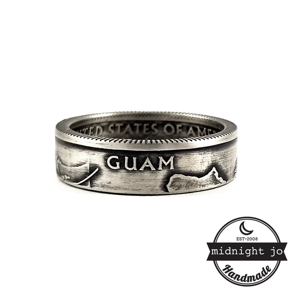 Silver Guam coin Ring by midnight jo