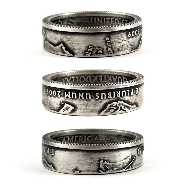 Silver Guam Quarter coin Ring by midnight jo