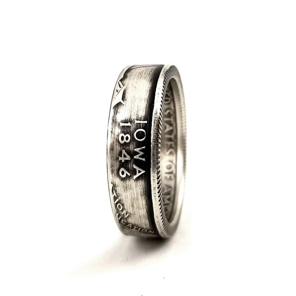 90% Silver Iowa Quarter Coin Ring by midnight jo